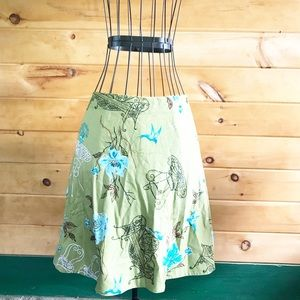 Context cotton embellished printed skirt 4P